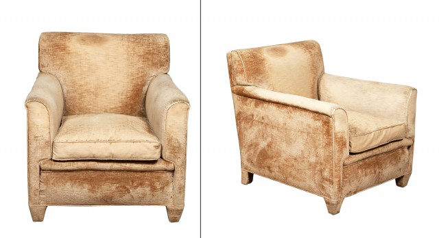Pair of Maison Jansen Upholstered Club Chairs