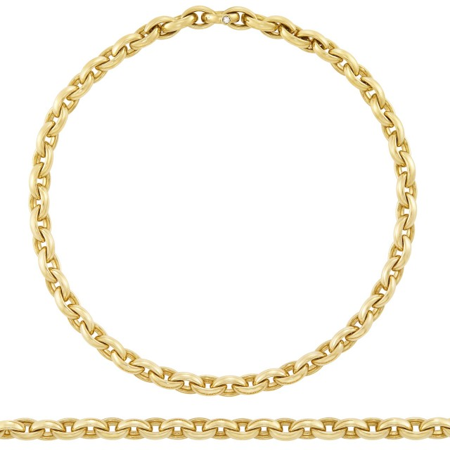 Gold and Diamond Chain Necklace/ Bracelet Combination