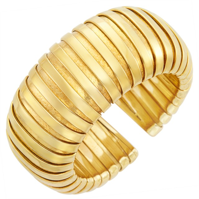Gold Cuff Bangle Bracelet, Weingrill