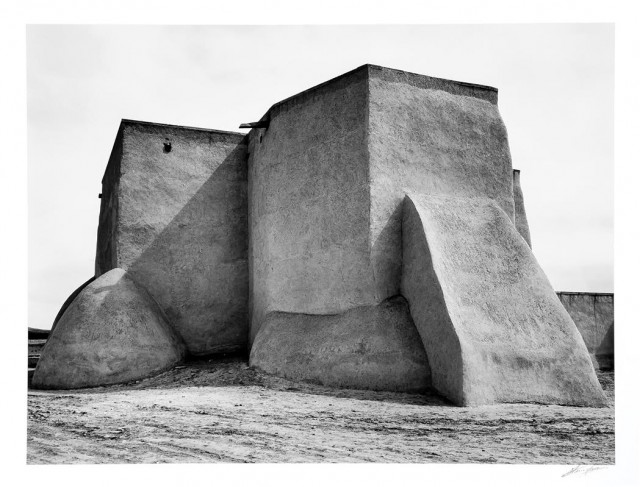 ADAMS, ANSEL (1902-1984)  St. Francis Church, Ranchos de Taos, New Mexico, 1929.