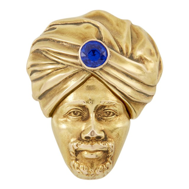 Gold Turban Head Pin-Pendant
