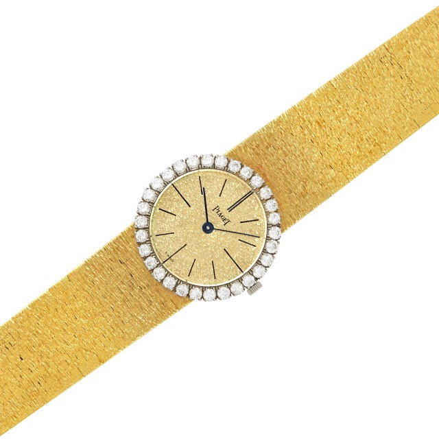 Two-Color Gold and Diamond Wristwatch, Piaget