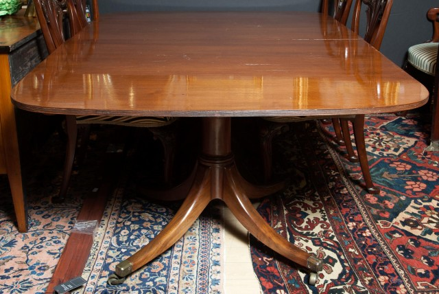 Regency Mahogany Double-Pedestal Dining Table
