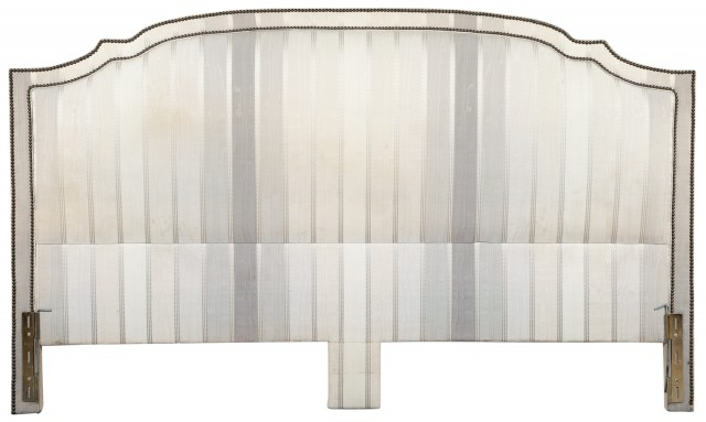 Maison Jansen Silk Taffeta Upholstered Headboard And Two Pairs Of Silk Taffeta Drapes En Suite Doyle Auction House