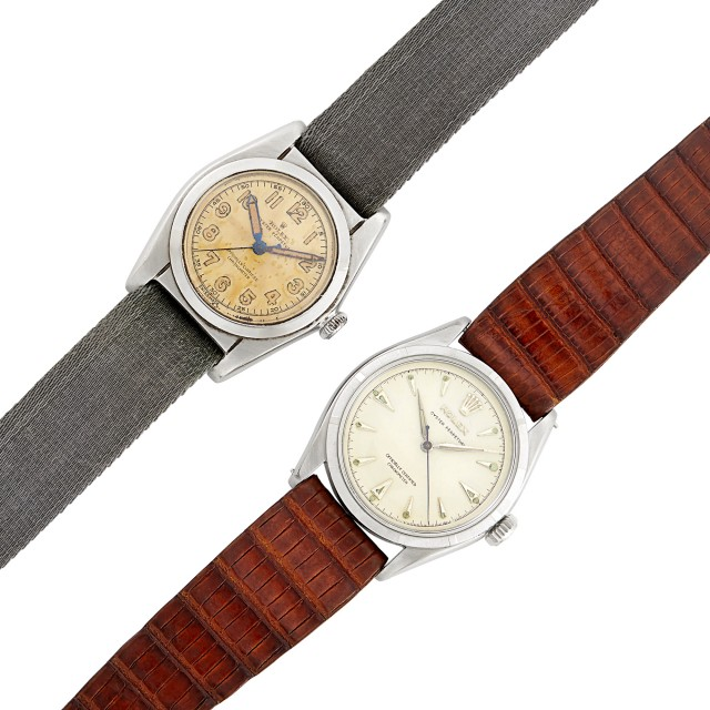 Two Stainless Steel 'Oyster Perpetual' Wristwatches, Rolex