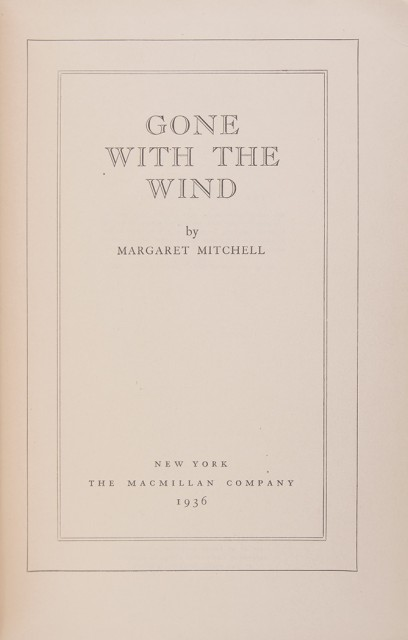 MITCHELL, MARGARET  Gone with the Wind