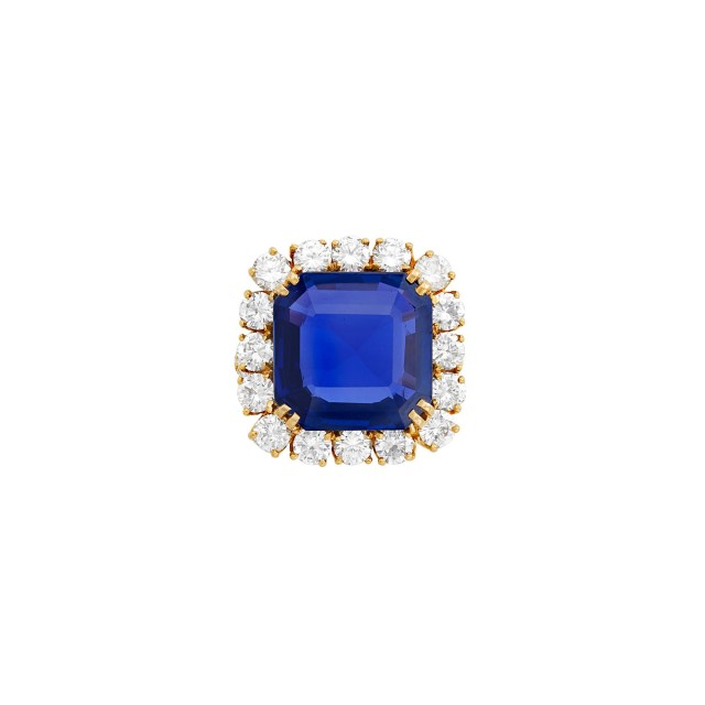 Gold, Sapphire and Diamond Ring, Oscar Heyman Brothers