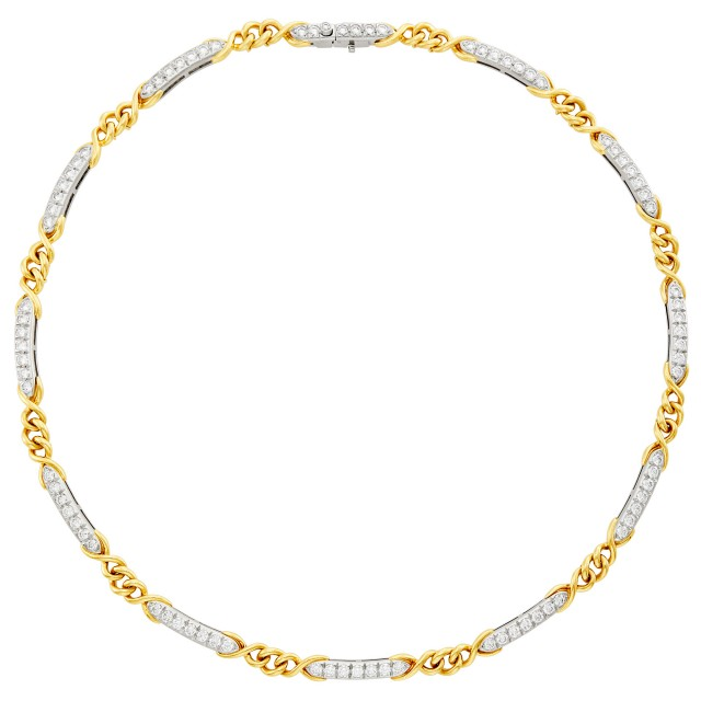 Platinum, Gold and Diamond Necklace, Tiffany & Co.