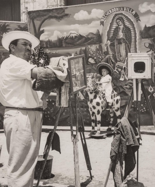 AUERBACH, ELLEN (1906-2004)  One of many photographers before one of many churches, in Villa de Guadalupe...