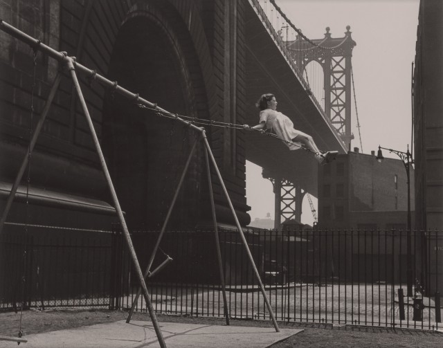 ROSENBLUM, WALTER (1919-2000)  Girl on Swing, Pitt Street, New York,