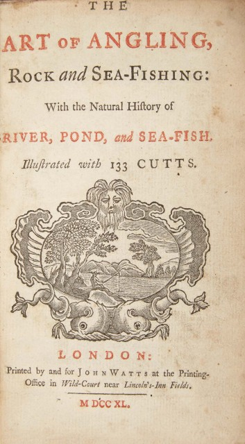 [ANGLING]  Group of three 18th century titles.