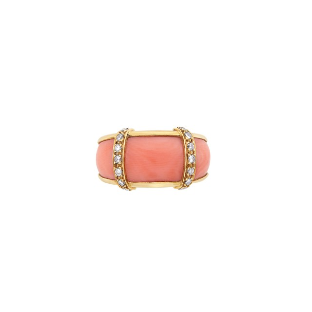 Gold, Coral and Diamond Ring, Van Cleef & Arpels, France