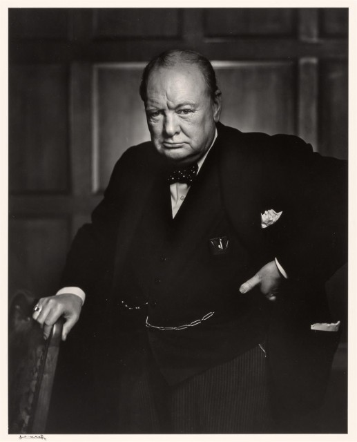 KARSH, YOUSUF (1908-2002)  [Rt. Honourable Winston Churchill,