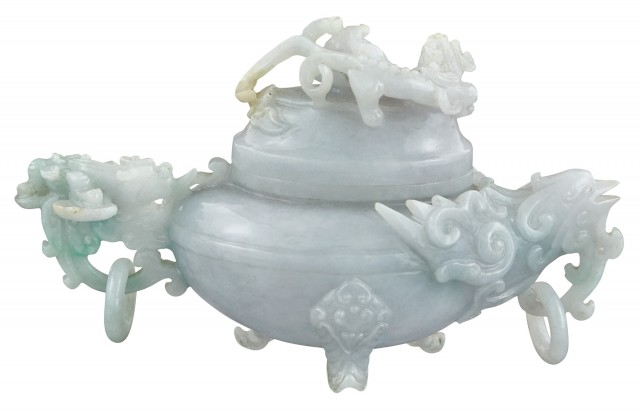 Chinese Jade Covered Censer