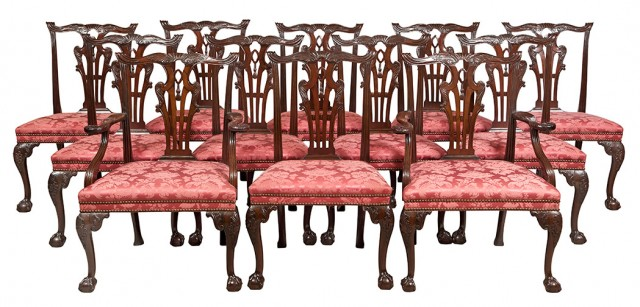 Set of Twelve George III Mahogany Dining Chairs