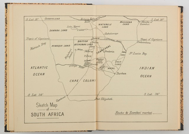 BETHELL, ALFRED J.  Notes on South African Hunting and Notes on a Ride to the Victoria Falls of the Zambesi...