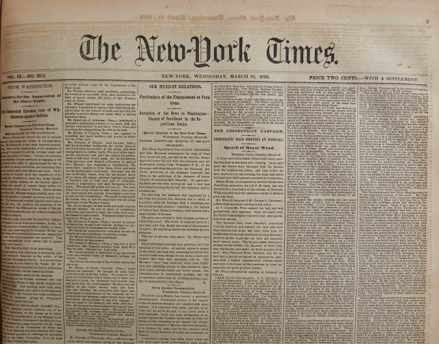 [CIVIL WAR - NEW YORK TIMES]  Bound issues of the New York Times.