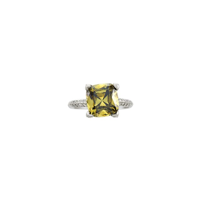 Dreicer and Co. Fancy Dark Brown-Greenish Yellow Diamond and Diamond Ring