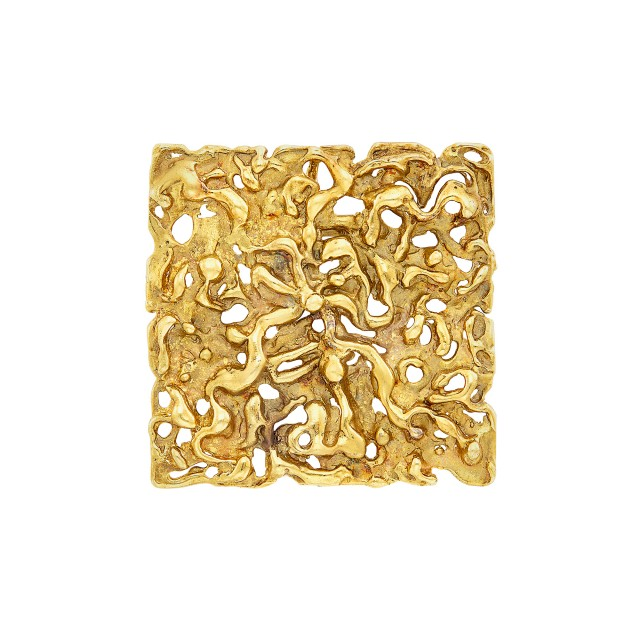 Gold Pendant Clip-Brooch, Van Cleef and Arpels, France
