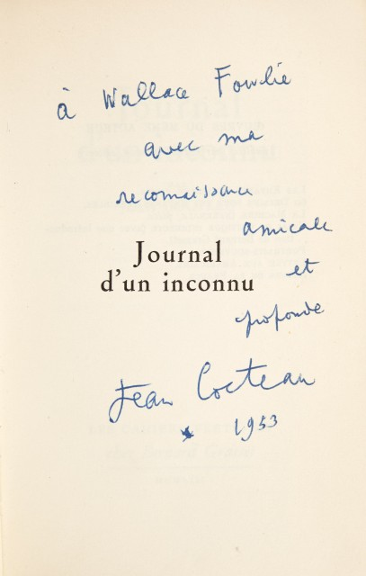 COCTEAU, JEAN  Two inscribed titles.