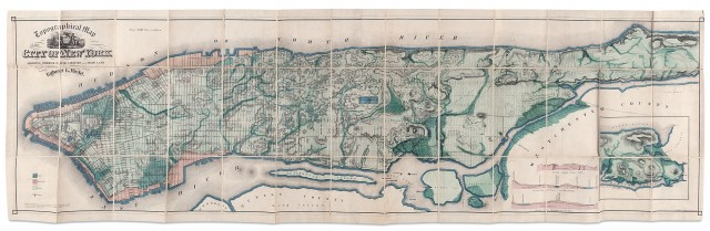 [NEW YORK]  VIELE, EGBERT. The Topography and Hydrology of New York.