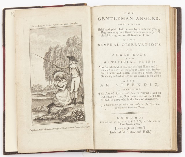 [ANON]  The gentleman angler. Containing brief and plain instructions  by which the young beginner may in a short time become a perfect artist in angling for all Kinds of Fish...