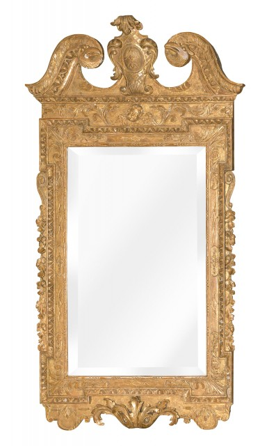 George II Gilt-Gesso Mirror