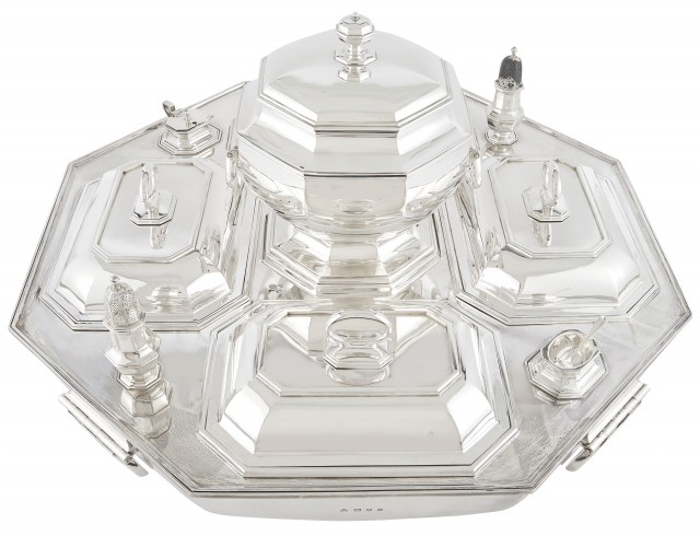 English Sterling Silver Supper Set