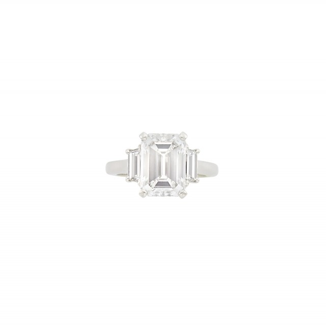 Platinum and Diamond Ring and Band Ring, Van Cleef and Arpels
