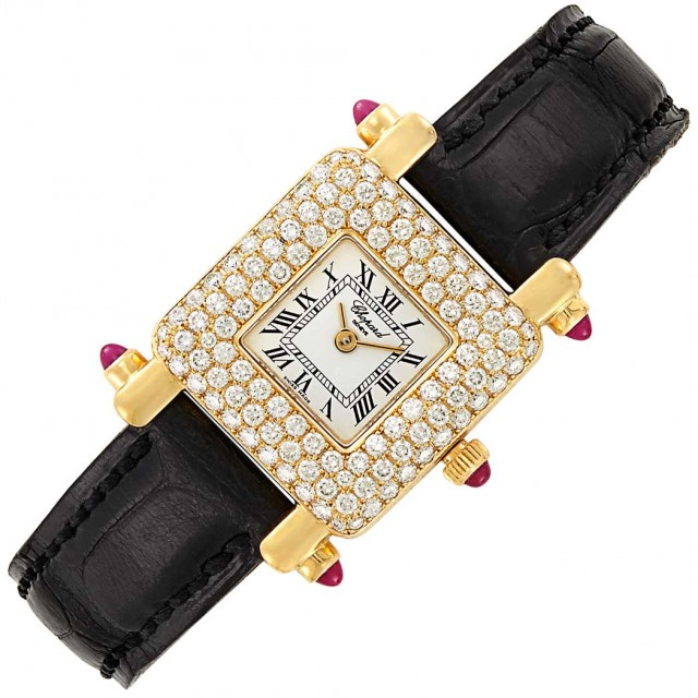 Ladyand#39;s Gold and Diamond Wristwatch, Chopard