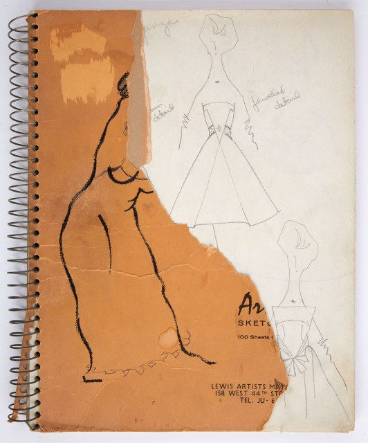 CASSINI, OLEG  Two notebooks of original fashion sketches.