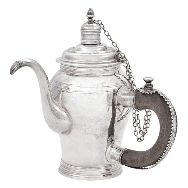 Queen Anne Britannia Standard Silver Chocolate Pot