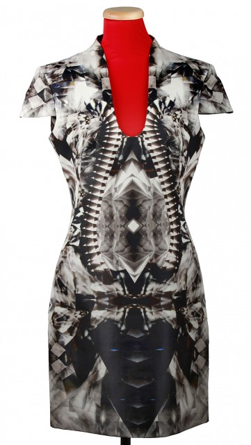Multi-Color Silk and Lamb's Wool Kaleidoscope Dress, 'Natural Distinction, Unnatural Selection', Spring-Summer, 2009