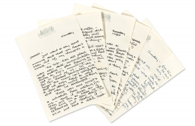 KELLY, GRACE  Four autograph letters to Oleg Cassini.