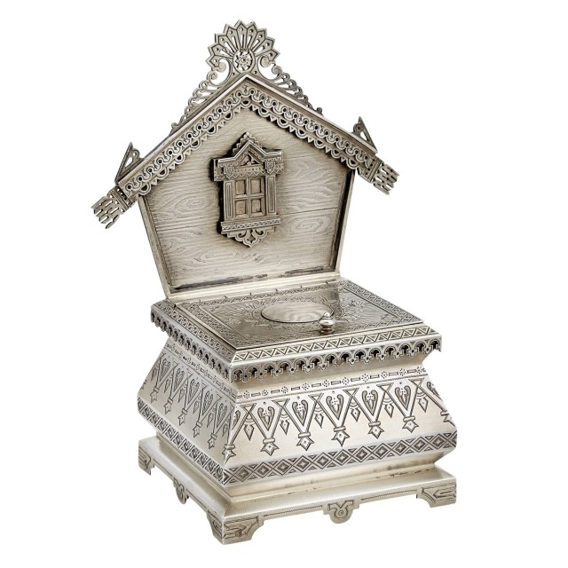 Russian Silver-Gilt Salt Throne