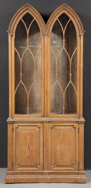 George III Style Pine Bookcase Cabinet