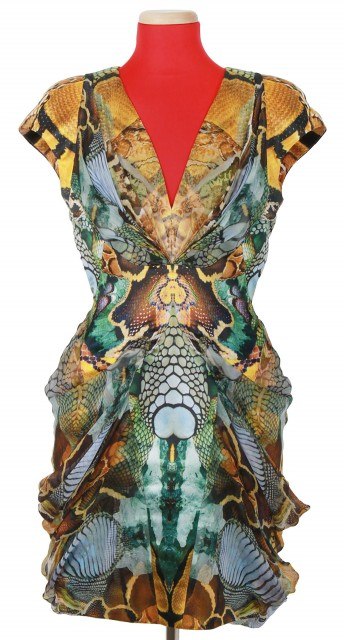 Reptile Print Silk Dress, 'Plato's Atlantis', Spring-Summer 2010