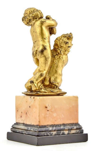 French Gilt Bronze Figural Group