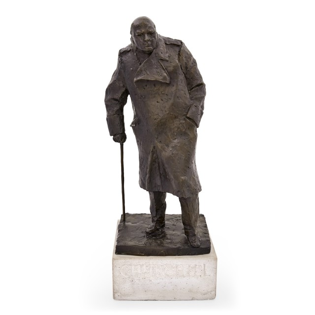 [CHURCHILL, WINSTON L.[EONARD] SPENCER, Sir]  ROBERTS-JONES, IVOR (1913-1996)  Sir Winston Churchill.