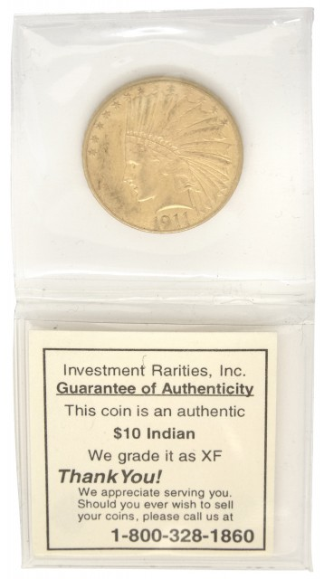 United States 1911 $10 Gold Indian