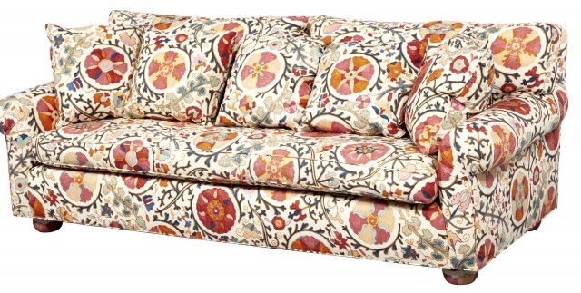 Upholstered Loose Cushion Sofa
