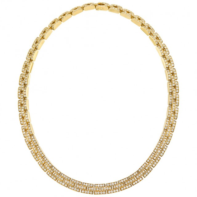 Gold and Diamond 'Panthère' Necklace, Cartier, France