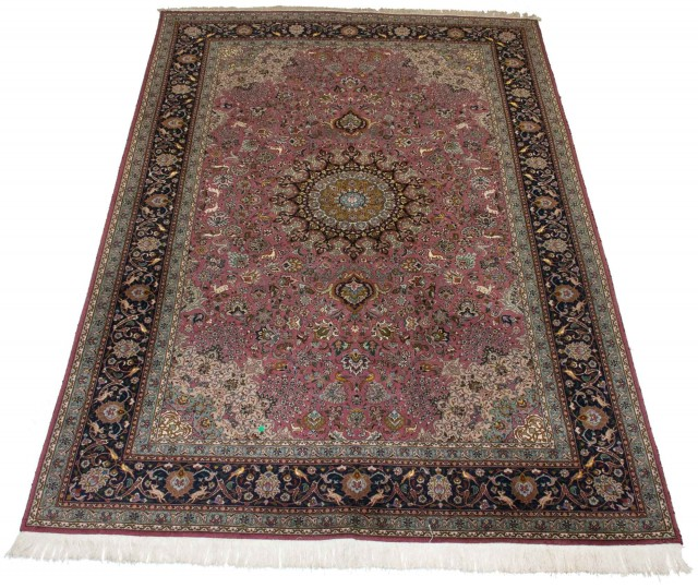 Kurwool and Silk Tabriz Carpet