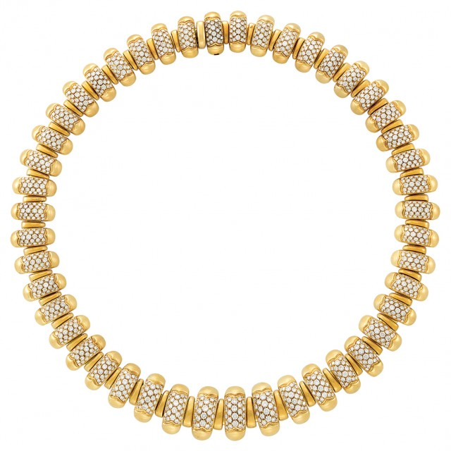 Gold and Diamond \'Celtica\' Necklace, Bulgari