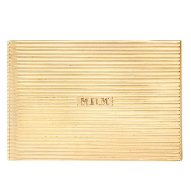 Gold Note Pad Case, Ruser
