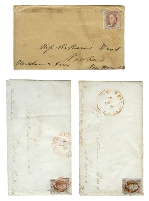 United States 1847 5 Cents Issue on Cover