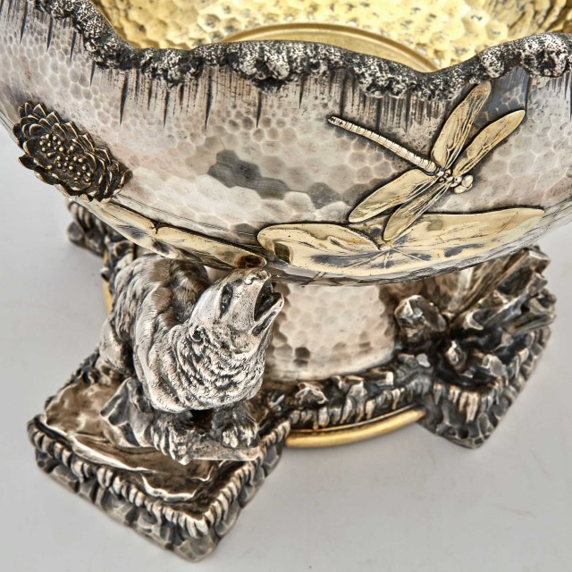 Tiffany and Co. Parcel Gilt Sterling Silver Ice Bowl