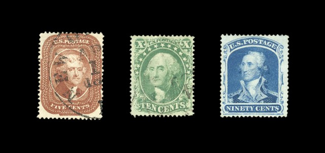 United States 1857 Issue, Scott 18-39