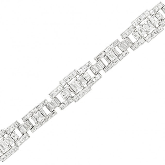 Platinum and Diamond Bracelet, Oscar Heyman & Brothers