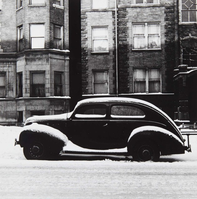 ISHIMOTO, YASUHIRO (1921-2012)  Chicago [Ford in Snow, Winter],